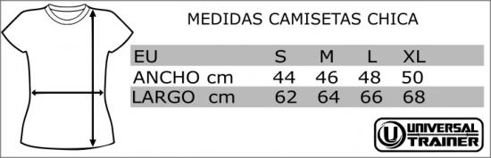 TALLAS Y MEDIDAS CAMISETAS CHICA